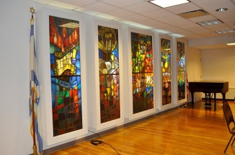 FJC Kensington Brooklyn Hanid Room Stained Glass Panels
